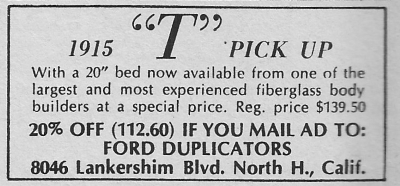 Ford Duplicators 1915 T-Bucket body