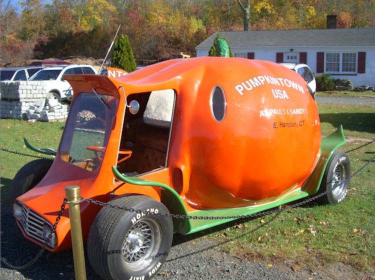 Pumpkin Hot Rod Car