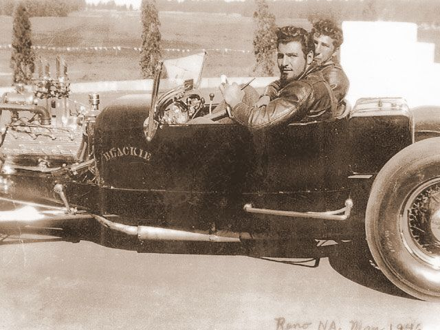 Blackie Gejeian 1926 T roadster circa 1946