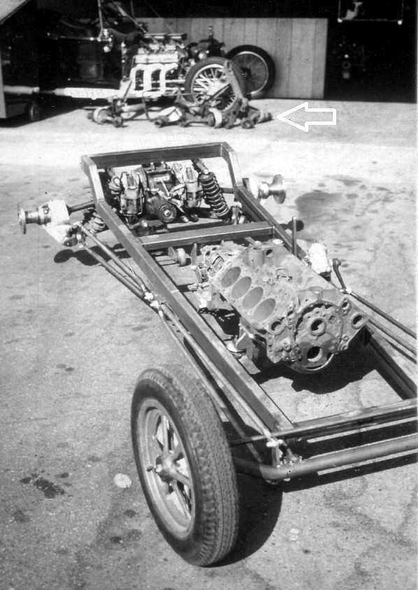 Ted Brown T-Bucket chassis Jaguar IRS