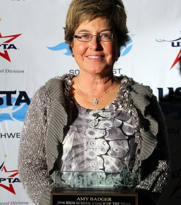 Congratulations to Amy Badger – USPTA Southwest High School Coach of the Year!