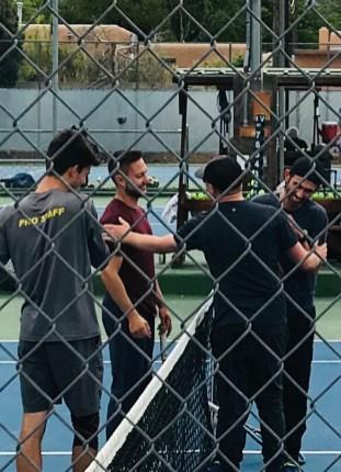 TCA Tennis Pros during a fundraiser.