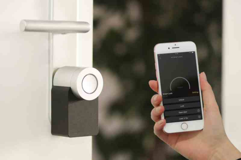 a smart lock controlled via smartphone
