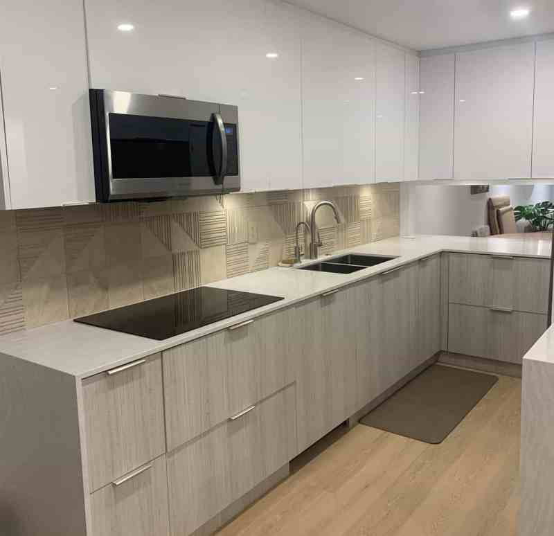 The newly remodeled kitchen at Nelson Street, Vancouver