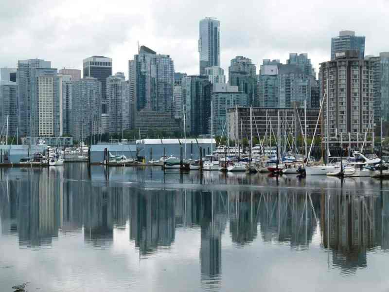 skyline of vancouver bc from the water