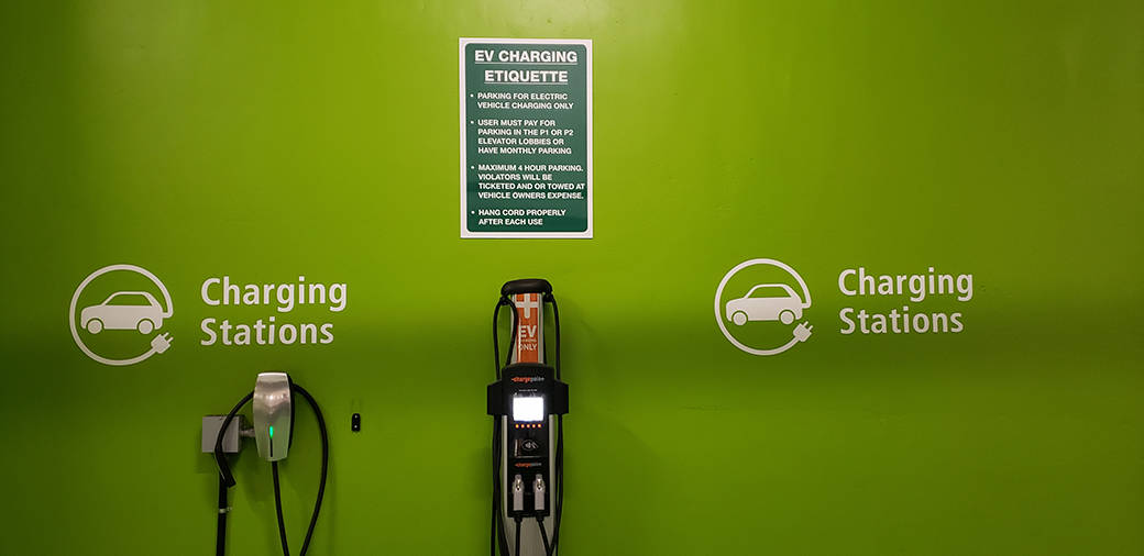 commercial electric car charger station