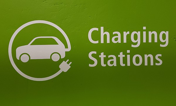 commercial electric car charger sign