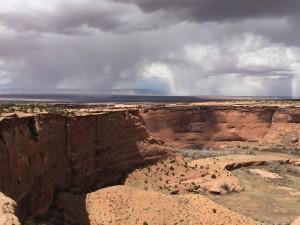 Rain approaching Canyon de Chelly