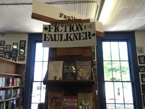MS Faulkner in the bookstore