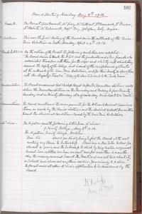 TCD/MUN/V/5/21 p 182 TCD Board Minutes 8 May 1916