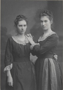 Winifred Wynne with her sister Emily aged around 16 TCD MS 10247/17/66