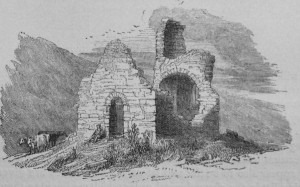 Fig. 2 Church on Ireland's Eye. From, Margaret Stokes, Early Christian Architecture in Ireland (Dublin, 1878).