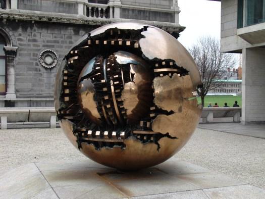 The Pomodoro Sphere in 2005