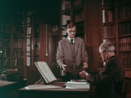 L: William (Billy) O'Sullivan, Assistant in charge of Manuscripts. Later, Keeper of Manuscripts. R: Mr Cyril Edward Walsh, Senior Library Assistant.