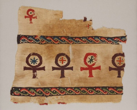 Figure 4 Textile Fragment, Coptic, 3rd-6th century, © Victoria and Albert Museum, London (258-1890). Source.