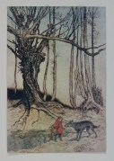 """""""When she got to the wood, she met a wolf"""" 1909"""