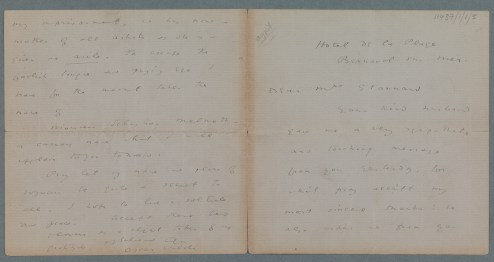 Letter from Oscar Wilde to Eliza Stannard, 1897 (TCD MS 11437/1/1/5)