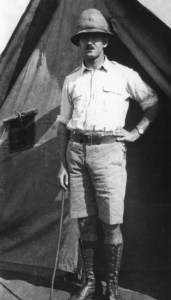 Norman outside tent