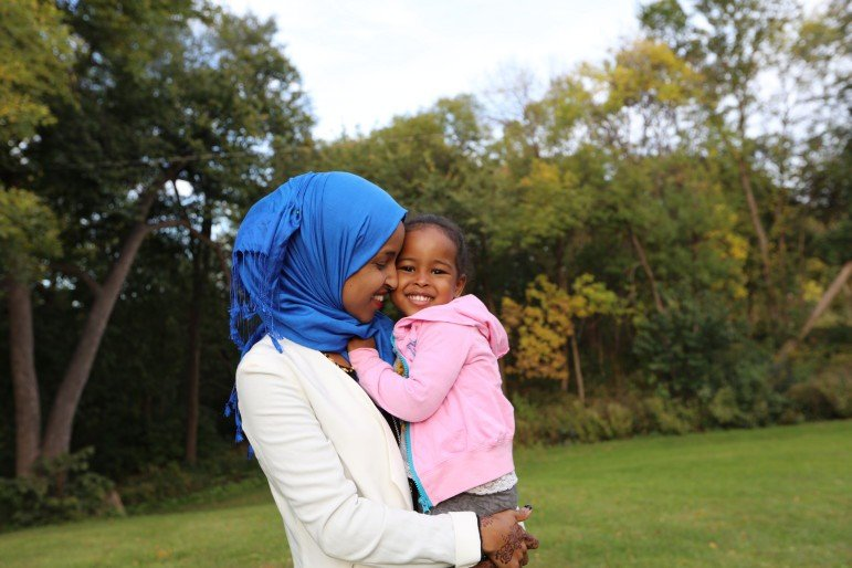 """Because I'm a mom, that makes me concerned for the future,"" Omar said. Photo by Conrad Zbikowski."