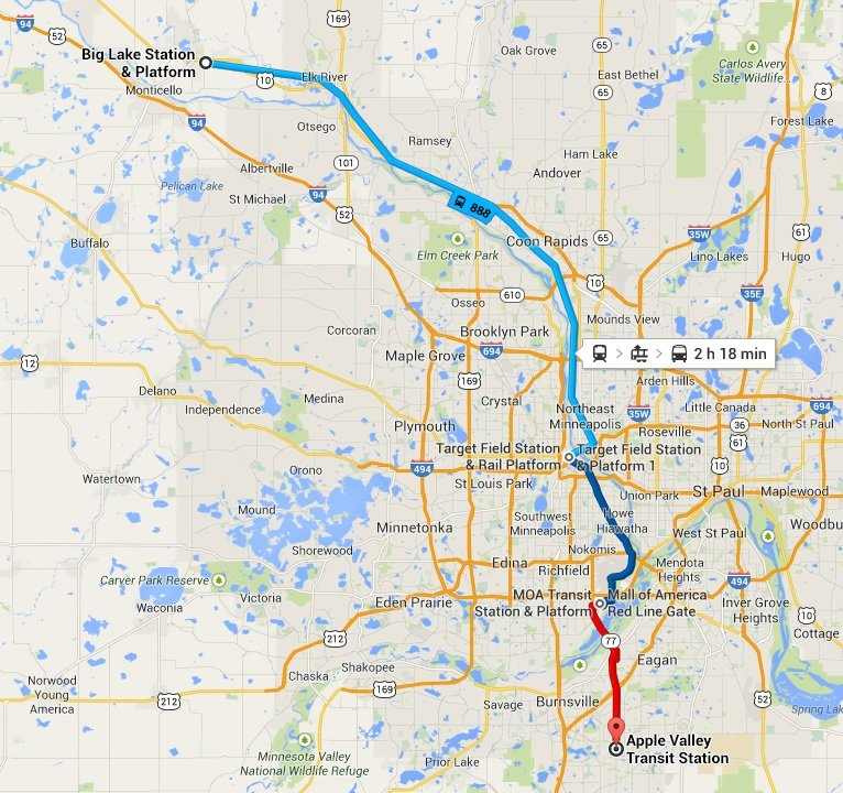 A Transit Adventure From Big Lake To Apple Valley Twin Cities Daily Planet