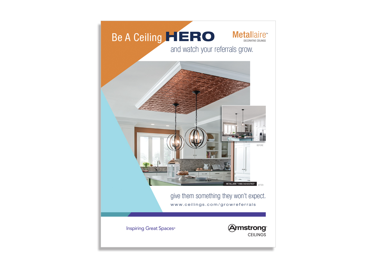 advertising design, contractor solutions magazine, armstrong magazine ad