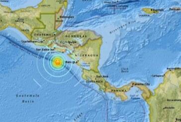 Un fuerte terremoto sacude Nicaragua y El Salvador