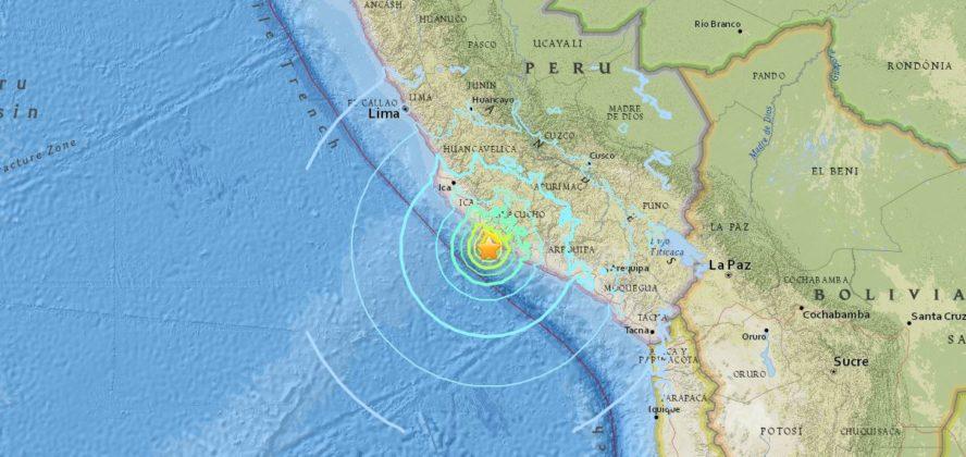 Sismo de 7.3 grados sacude el sur del Perù