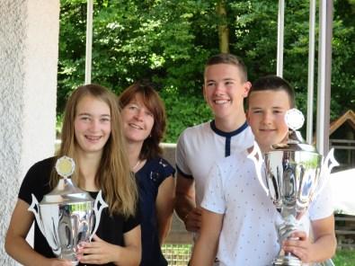 Sieger Damen / Herren Clubmeisterschaft TC Topspin Grafing Ebersberg 2017