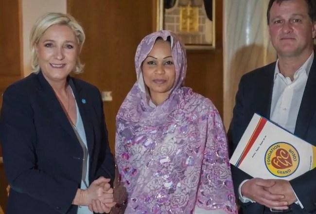 Tchad: Marine le Pen reçue à la présidence par Hinda Déby Itno