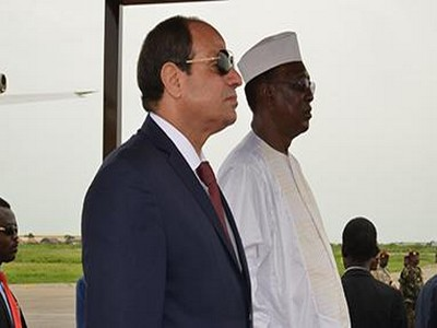 Le Président Abdel Fattah al-Sissi termine sa tournée africaine par le Tchad