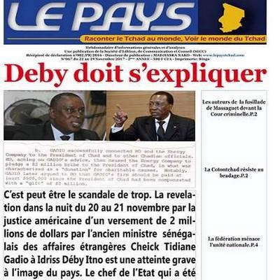 Inculpation de Gadio pour corruption aux États-Unis: Amnesty international Sénégal demande à la justice américaine d'arrêter Idriss Déby Itno