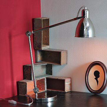 West Elm industrial table lamp