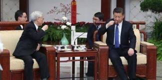 หัวหน้าพรรคคอมมิวนิสต์จีน-เวียดนาม ดื่มน้ำชาผูกมิตร