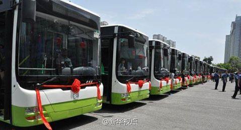 เหอเป่ยยกระดับรถบัสสาธารณะในเป่าติ้ง ให้เป็นรถพลังงานใหม่ทั้งหมด
