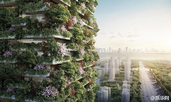 """หนานจิงเตรียมสร้างตึกที่เต็มไปด้วยต้นไม้ให้เป็นดั่ง """"เครื่องปรับอากาศ"""""""