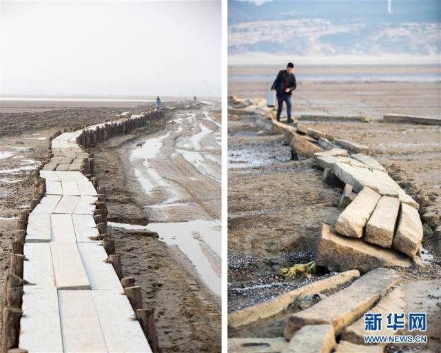 จีนบูรณะเสร็จอย่างรวดเร็ว! หลังน้ำลดจนฮวบจนพบสะพานโบราณใต้น้ำ