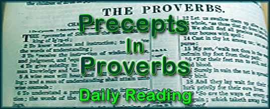 Proverbs Daily Reading Day 3
