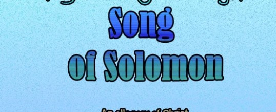 Coming soon – A Journey Through Song of Solomon