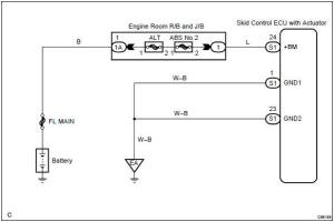 Toyota Corolla Repair Manual: Circuit description  Pump motor is lockedopen circuit in pump