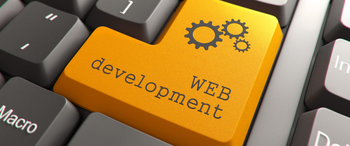 Keyboard with Web Development Button.