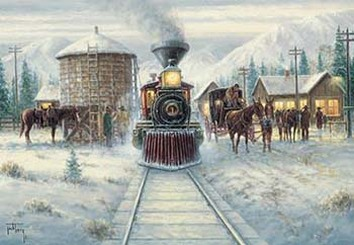 Vintage Railroad Art Classsic Holiday Railroad Prints
