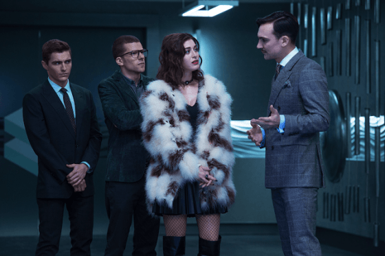 Jesse Eisenberg, Dave Franco, Lizzy Caplan în Now You See Me 2