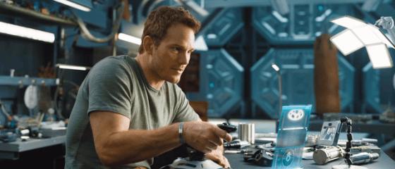 Chris Pratt în filmul SF, Passengers.