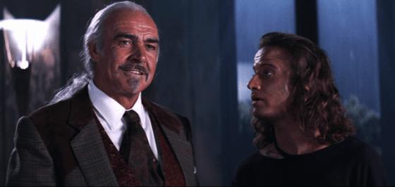 Christopher Lambert şi Sean Connery în Highlander 2