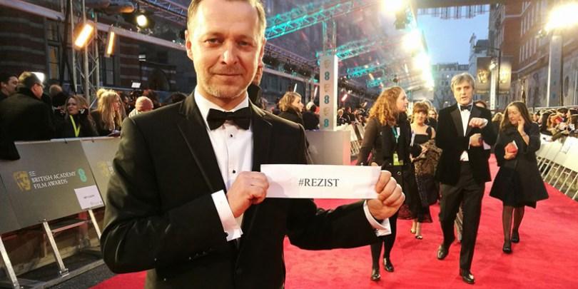 Molnar Levente pe covorul roşu la BAFTA AWARDS