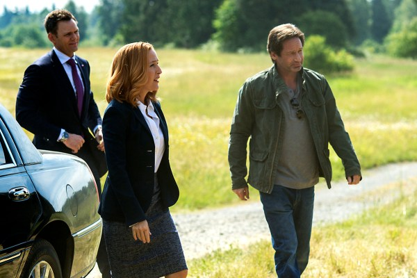 Joel McHale, Gillian Anderson şi David Duchovny în The X-Files (2017)