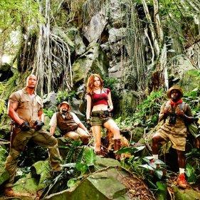 Dwayne Johnson, Kevin Hart,Jack Black si Karen Gillan.
