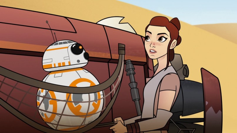 The Forces Of Destiny: Rey si BB8
