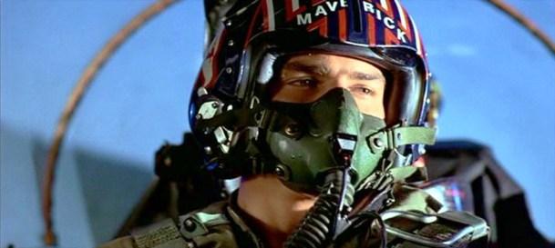 Tom Cruise (Maverick) in Top Gun