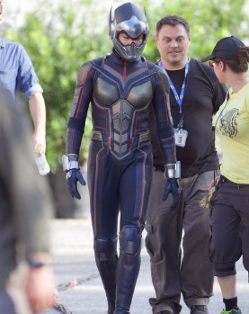Evangeline Lilly la filmari pentru Ant-Man And The Wasp
